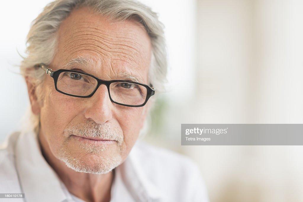USA, New Jersey, Jersey City, Portrait of senior man : Foto de stock