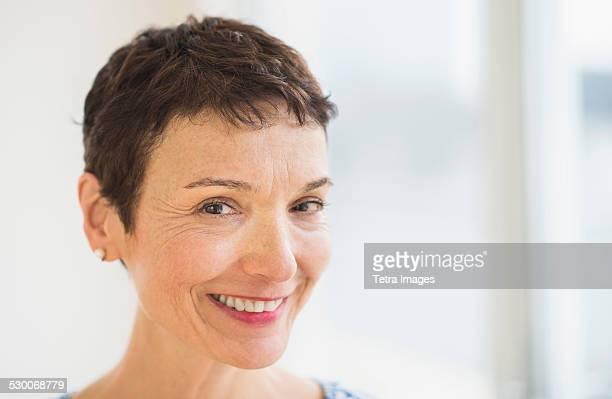 USA, New Jersey, Jersey City, Portrait of senior woman
