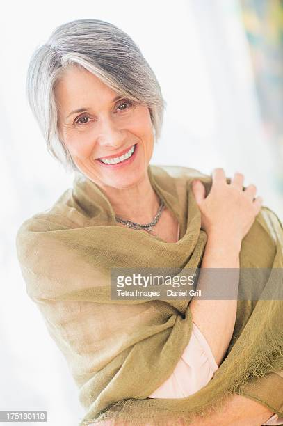 usa, new jersey, jersey city, portrait of woman covered with scarf - shawl stock pictures, royalty-free photos & images