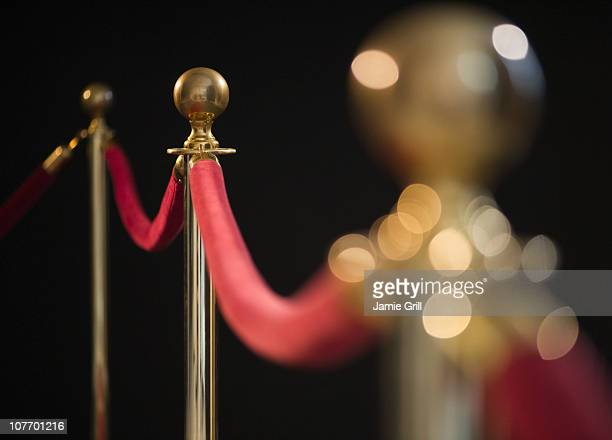 usa, new jersey, jersey city, rope barrier at red carpet event - cordon boundary stock pictures, royalty-free photos & images