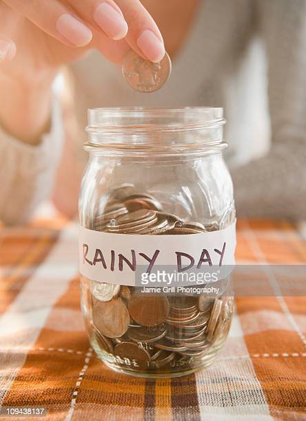 USA, New Jersey, Jersey City, Saving up for rainy day