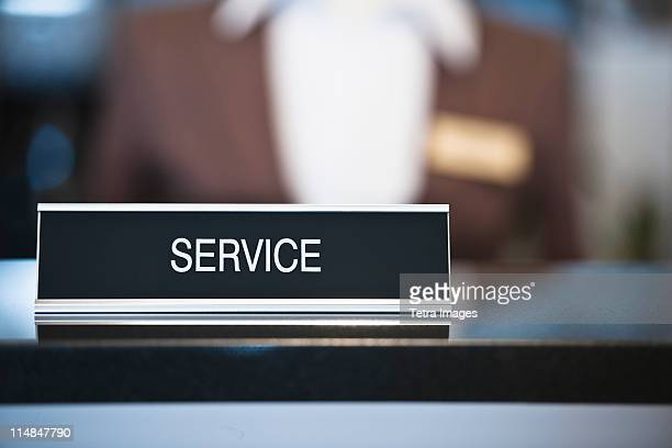 usa, new jersey, jersey city, service sign - nameplate stock pictures, royalty-free photos & images