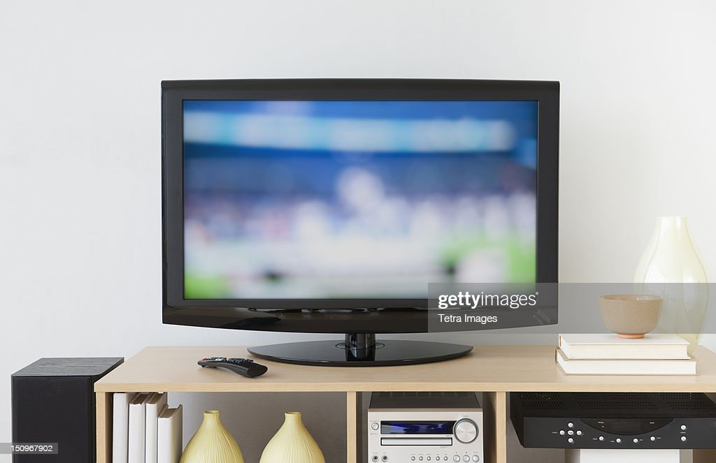 USA, New Jersey, Jersey City, Television set : Stock Photo