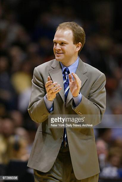 New Jersey Nets' head coach Lawrence Frank has reason to smile as his team wins its 14th straight game 13 under Frank by beating the Toronto Raptors...