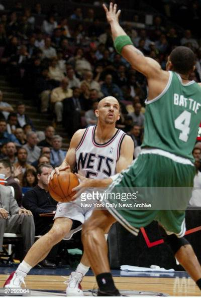 8a6b22002d0 New Jersey Nets  Jason Kidd looks for a shot past Boston Cel Pictures
