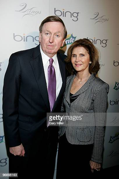 New Jersey Nets President Rod Thorn and his wife arrive for the 4th annual Two Kings Dinner hosted by JayZ and LeBron James at the W Dallas on...