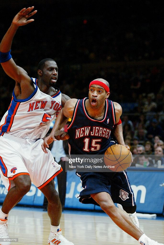 ec04d228f8b New Jersey Nets' Vince Carter is defended by Tim Thomas in t : News Photo