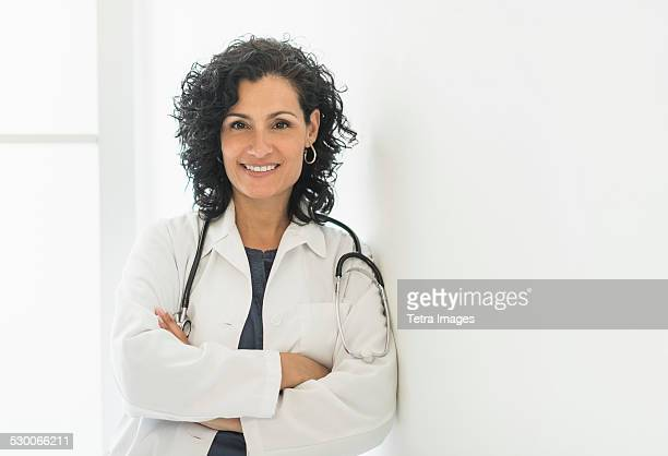 USA, New Jersey, Portrait of smiling female doctor