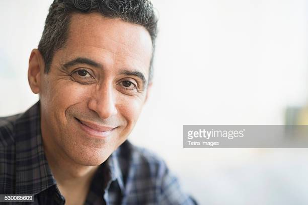 USA, New Jersey, Portrait of smiling mature man