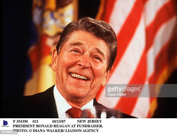 New Jersey President Ronald Reagan At Fundraiser