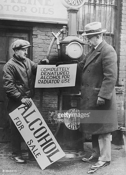 New Jersey prohibition director Colonel Ira Reeves takes a Newark garage owner to task for advertising alcohol with the wrong kind of sign circa 1927...