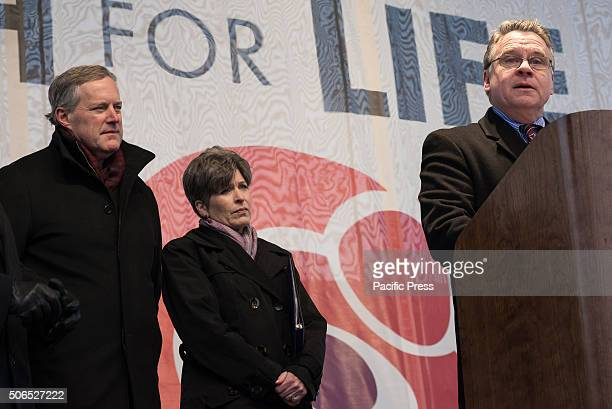 New Jersey Representative Chris Smith speaks at the rally preceding the 'March for Life' Tens of thousands of ProLife supporters rallied in...
