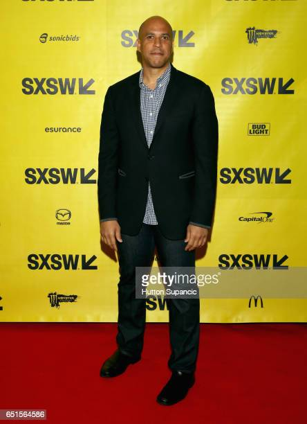 New Jersey Senator and former Newark Mayor Cory Booker attends at the Interactive Opening during 2017 SXSW Conference and Festivals at Austin...