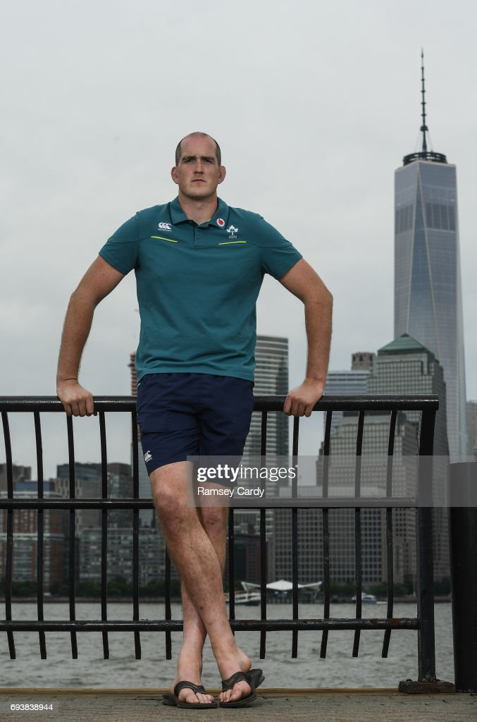 New Jersey , United States - 8 June 2017; Ireland's Devin Toner poses for a portrait following a press conference at the Hyatt Regency Hotel in Jersey City, New Jersey, USA.