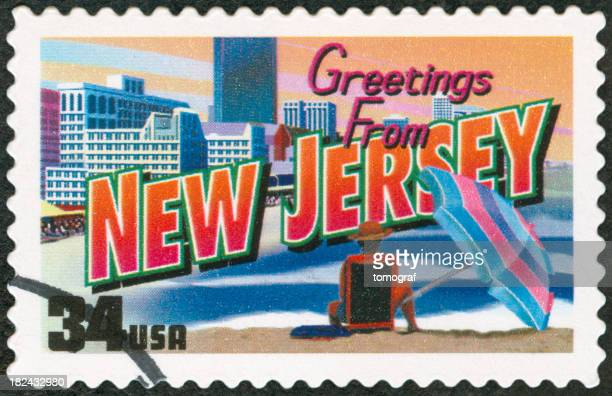A New Jersey US envelope stamp