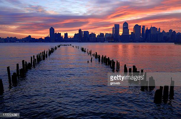 New Jersey waterfront at sunrise