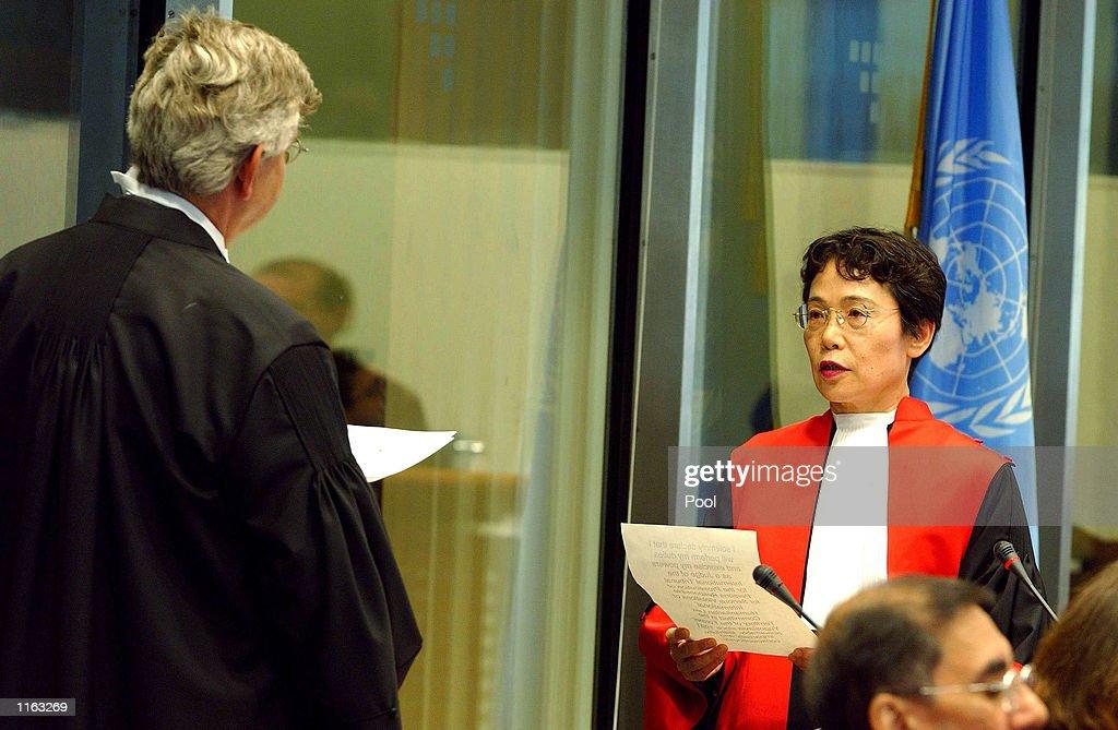 Yugoslavia Tribunal Gets New Judges in the Hague : News Photo