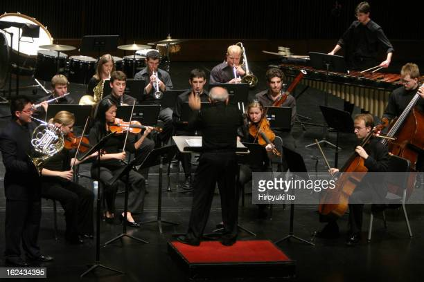 New Juilliard Ensemble performing at the Peter Jay Sharp Theater at the Juilliard School on Saturday night September 29th 2007This imageJoel Sachs...