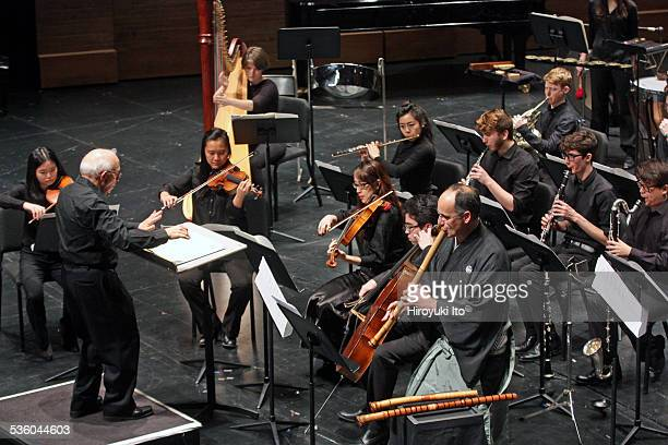 New Juilliard Ensemble performing in Focus 2015 Nippon Gendai Ongaku Japanese Music Since 1945 at Peter Jay Sharp Theater on Friday night January 23...