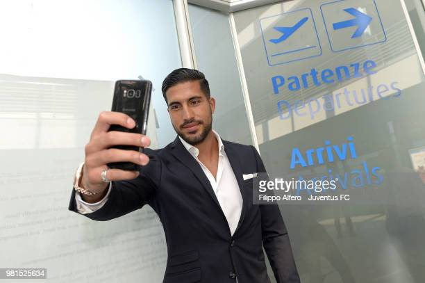 Emre Can the new midfielder just acquired by Juventus FC arrives to J Medicalquot for medical examinations on June 21 2018 in Turin Italy