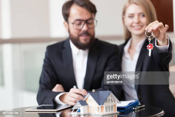 new keys - real estate office stock photos and pictures