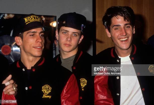 New Kids On The Block Danny Wood Joey McIntyre and Jonathan Knight circa 1988