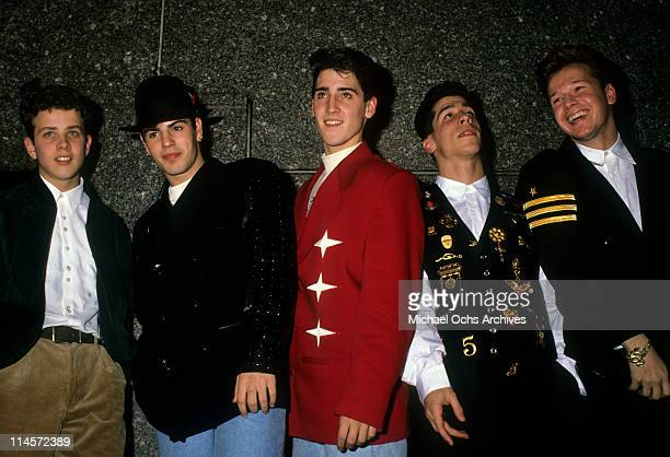 New Kids On The Block Joey McIntyre Jordan Knight Jonathan Knight Danny Wood and Donnie Wahlberg circa 1990