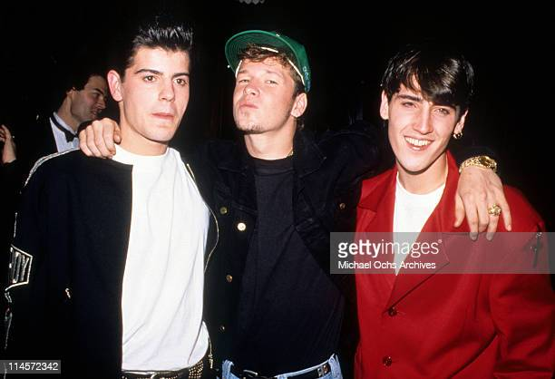 New Kids On The Block Jordan Knight Donnie Wahlberg and Jonathan Knight circa 1990