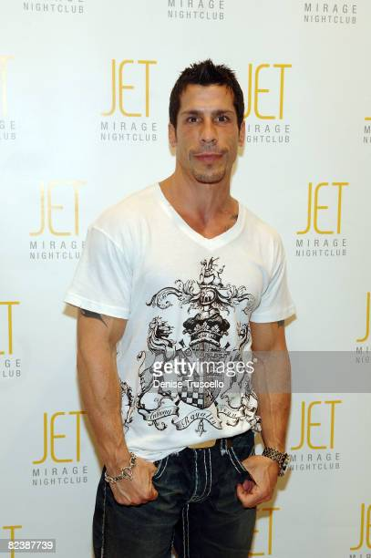 New Kids on the Block member Danny Wood arrives at Donny Wahlberg's Birthday party At Jet Nightclub At The Mirage on August 16 2008 in Las Vegas