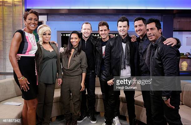 AMERICA New Kids on the Block were joined by TBoz and Chilli of TLC on 'Good Morning America' 1/20/15 airing on the ABC Television Network
