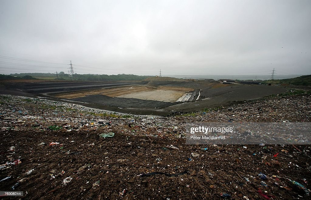 A new landfill site awaits filling at the Shelford Landfill, Recycling & Composting Centre on August 23, 2007 near Canterbury, England. The Shelford landfill site, run by Viridor Waste Management, receives 200 truck loads of waste weighing 2100 metric tonnes a day.