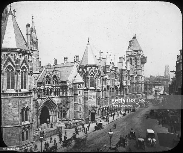 New Law Courts London late 19th century Designed in Victorian Gothic style by George Edmund Street the Royal Courts of Justice on the Strand were...