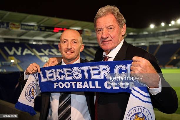 New Leicester City manager Ian Holloway and Chairman, Milan Mandaric after a press conference called at the Walkers Stadium on November 22, 2007 in...