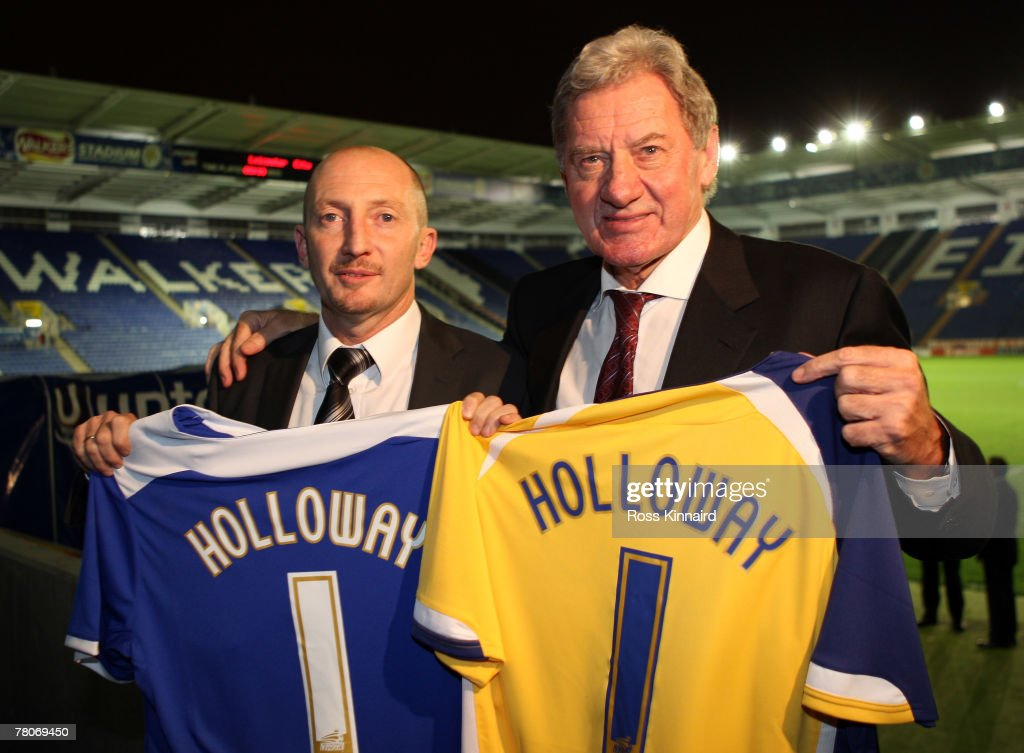 New Leicester City manager Ian Holloway and Chairman, Milan Mandaric after a press conference called at the Walkers Stadium on November 22, 2007 in Leicester, England.