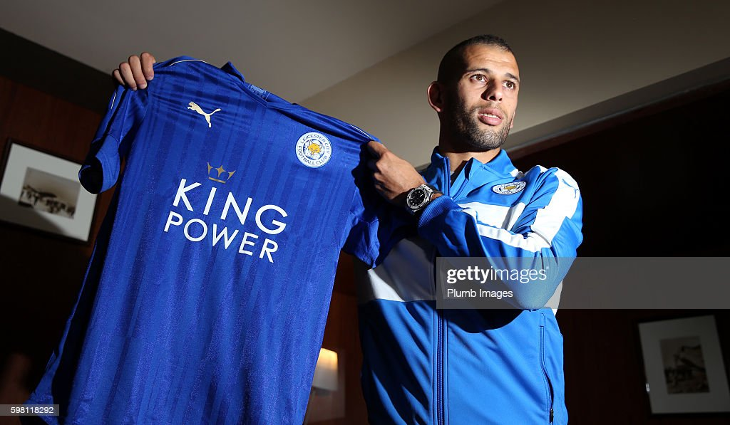 Leicester City Unveil New Signing Islam Slimani : News Photo