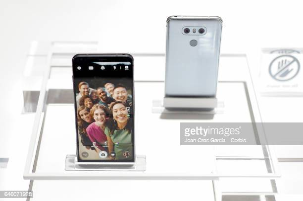 New LG G6 smart phone during the Mobile World Congress on February 27, 2017 in Barcelona, Spain.