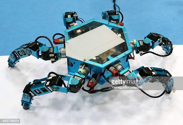 A new Limb Mechanism Robot named 'ASTERISK' of Arai Robotics Laboratory of Osaka University is displayed during the Japan Robot Week 2014 in Tokyo...