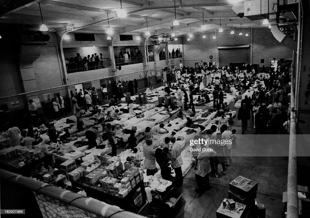 APR 11 1975, APR 12 1975, APR 13 1975; New Lives Begin Here; Harmon Hall at San Francisco's Presidio : News Photo