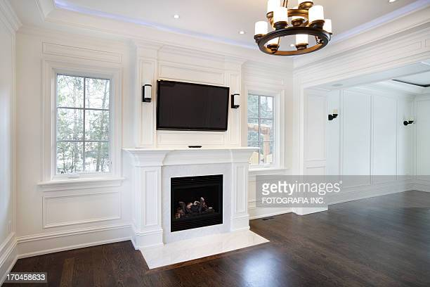 new living room - wainscoting stock photos and pictures