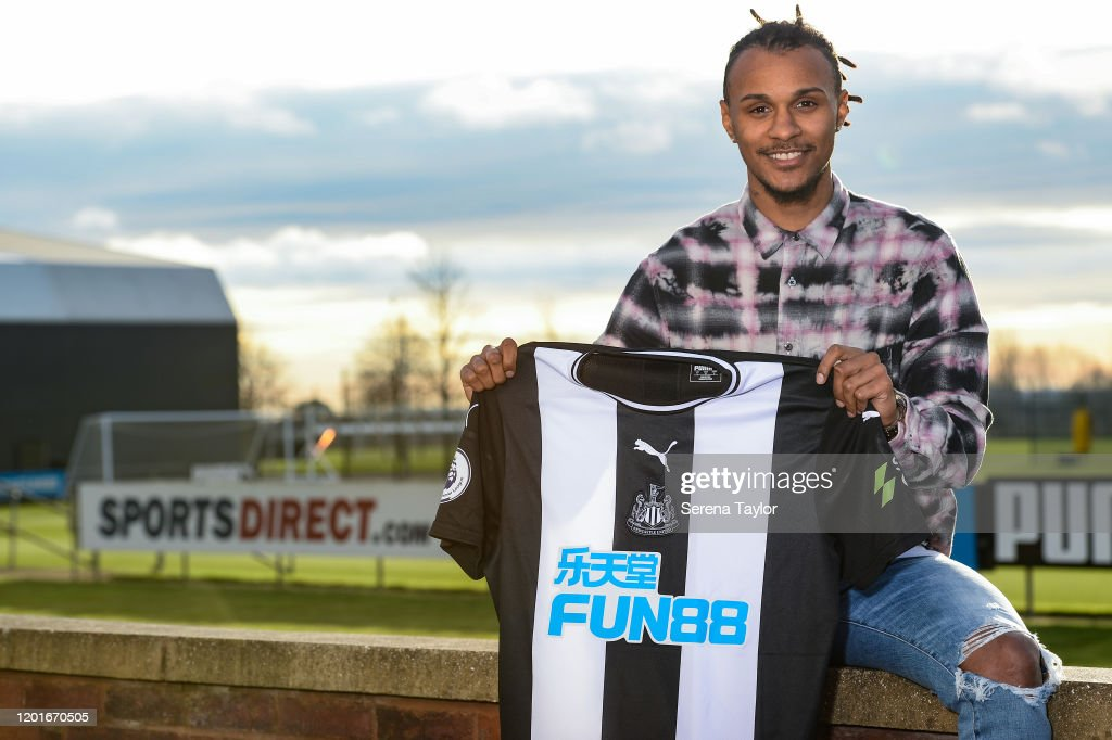 Newcastle United Unveil New Loan Signing Valentino Lazaro : News Photo