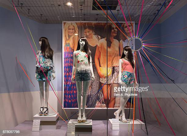 New Look London window display 2014 as Part of the World Fashion Window Displays on June 5 2014 in London United Kingdom