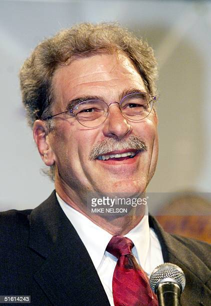 New Los Angeles Lakers coach Phil Jackson smiles during a press conference in Beverly Hills announcing his appointment as the Lakers 15th head coach...