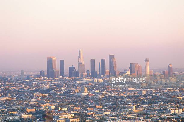 New Los Angeles skyline with view of City Hall