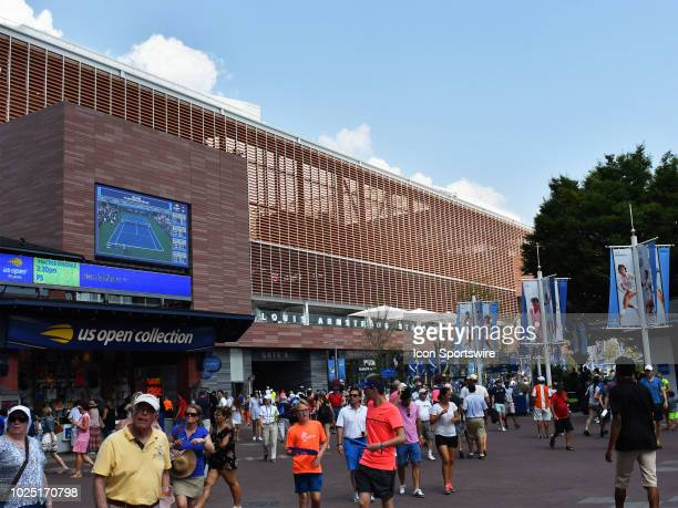 New Louis Armstrong Stadium during the US Open on August 29 played at the Billie Jean King Tennis Center Flushing Meadow NY