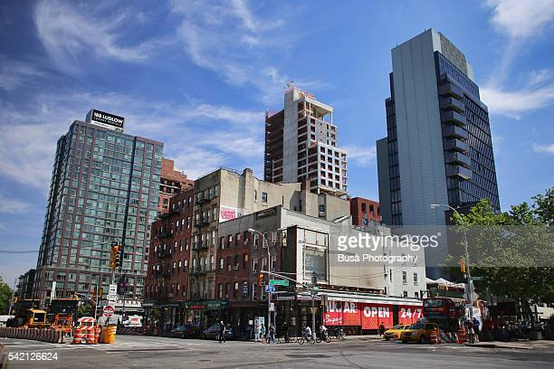 new luxury condo developments in the lower east side, manhattan, between allen street and east houston street - east village stock pictures, royalty-free photos & images