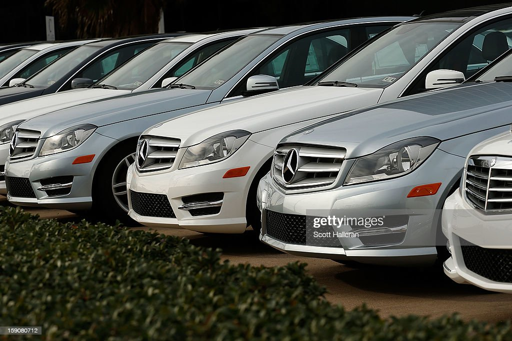 New luxury Mercedes-Benz sedans are seen at the Mercedes-Benz of Houston Greenway dealership on January 7, 2013 in Houston, Texas. Houston's success with job growth in recent years has placed the city among the top markets in the country for elevated income levels, according to reports.