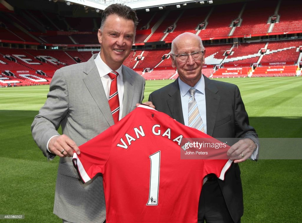 Louis Van Gaal Unveiled As New Manchester United Manager : News Photo