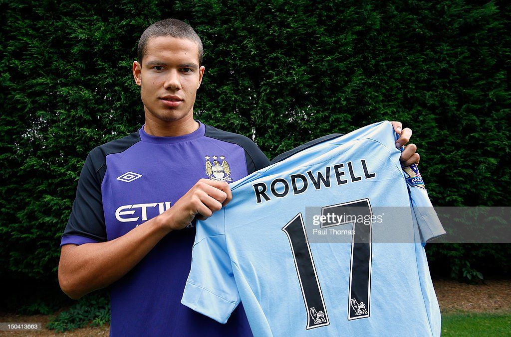 New Manchester City player Jack Rodwell poses for a photograph at the MCFC Carrington Training Complex on August 17, 2012 in Manchester, England.