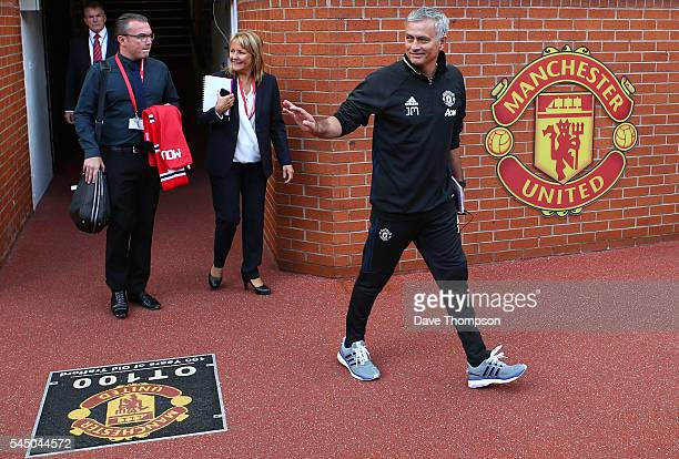 New Manchester United manager Jose Mourinho during his introduction to the media at Old Trafford on July 5 2016 in Manchester England