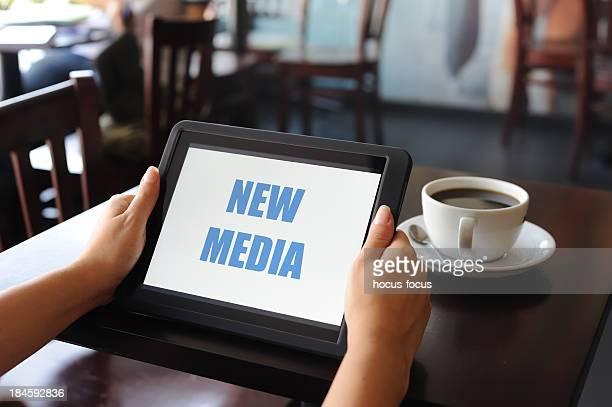 New Media on digital tablet